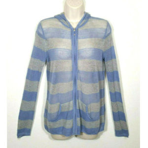 TOMMY BAHAMA Crochet Beach Cover Up Hoodie 2595E1